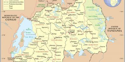 Ruandan Kartta Kartat Ruanda Ita Afrikka Ja Afrikan